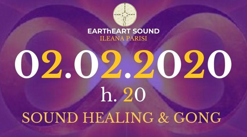 Incontro di meditazione di sound healing e gong
