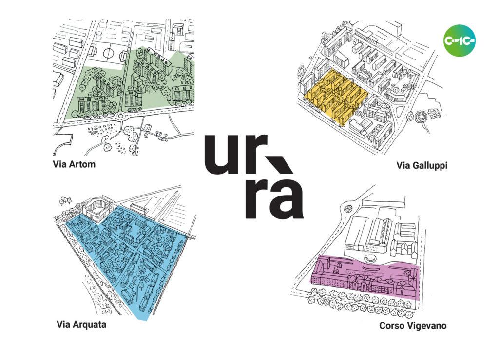 Urrà Torino: Le quattro aree oggetto.